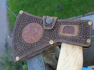 Делаем кожаный чехол для топора. Ярмарка Мастеров - ручная работа, handmade.