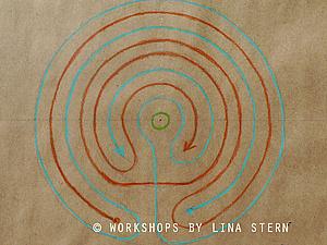 Как нарисовать семиповоротный лабиринт. Ярмарка Мастеров - ручная работа, handmade.