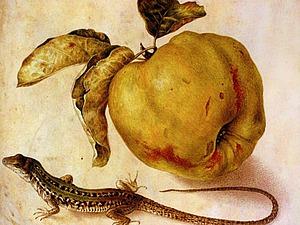 Айва с ящерицей | Ярмарка Мастеров - ручная работа, handmade