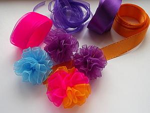 Резиночка для волос. Бантик-шарик за 15 минут | Ярмарка Мастеров - ручная работа, handmade