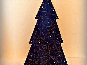 Мастер-класс: новогодняя дизайнерская елка своими руками. Ярмарка Мастеров - ручная работа, handmade.