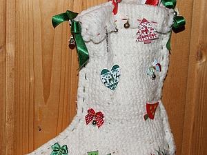 Носочек для письма Дедушке Морозу! | Ярмарка Мастеров - ручная работа, handmade