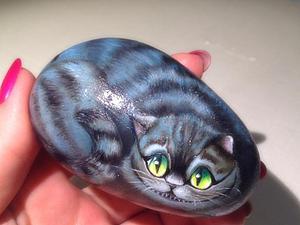 Рисуем кота на камне. | Ярмарка Мастеров - ручная работа, handmade