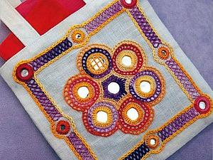Блистательная «shisha» — традиционная индийская вышивка с зеркалами. Ярмарка Мастеров - ручная работа, handmade.