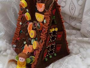 Новогодняя конфетка - пряничный домик!!! | Ярмарка Мастеров - ручная работа, handmade
