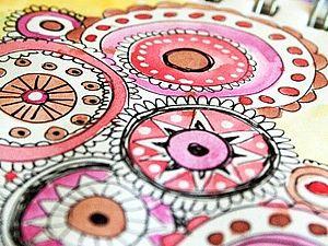 Дудлинг. Создай свой мир | Ярмарка Мастеров - ручная работа, handmade