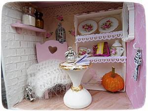 Аукцион на миниатюру! Шебби кухня | Ярмарка Мастеров - ручная работа, handmade