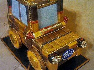 Машина из конфет - подарок мужчине или мальчику. | Ярмарка Мастеров - ручная работа, handmade
