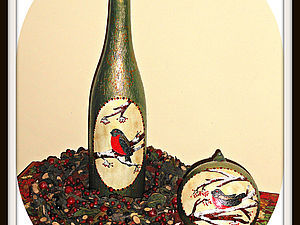 Новогодний мастер-класс от Светланы Мартыновой Шар большой + бутылка | Ярмарка Мастеров - ручная работа, handmade