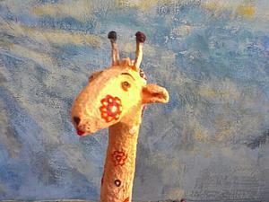 Жирафик из папье-маше своими руками. Ярмарка Мастеров - ручная работа, handmade.