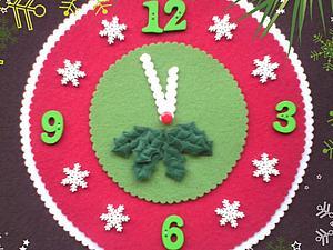 Мастер-класс: часы — новогодний декор из фетра. Ярмарка Мастеров - ручная работа, handmade.