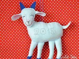 Шьем синюю козу — символ 2015 года. Ярмарка Мастеров - ручная работа, handmade.