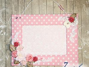 Делаем милую текстильную рамочку с цветочным декором. Ярмарка Мастеров - ручная работа, handmade.