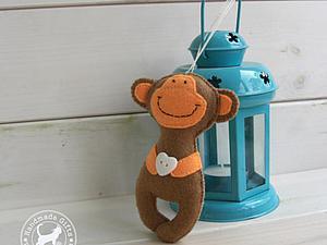 Как за час сшить простую, но очаровательную обезьянку из фетра. Ярмарка Мастеров - ручная работа, handmade.