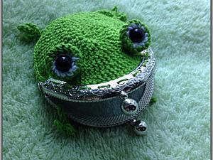 Вяжем кошелек «Полезная Лягушка». Ярмарка Мастеров - ручная работа, handmade.