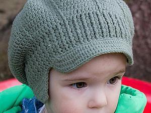 Описание вязания стильной кепочки для малыша. Р-р 48-50.   Ярмарка Мастеров - ручная работа, handmade