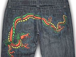 Превращаем обычные джинсы в эксклюзивные. Ярмарка Мастеров - ручная работа, handmade.