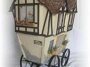Кукольный домик на колесах   Ярмарка Мастеров - ручная работа, handmade
