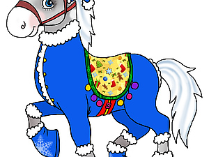 Всех с Наступающим Новым годом Лошадки! | Ярмарка Мастеров - ручная работа, handmade