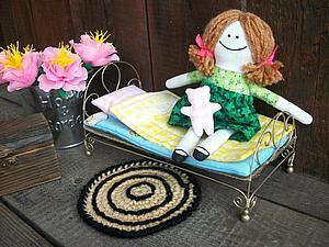 Кукольная кроватка из проволоки своими руками | Ярмарка Мастеров - ручная работа, handmade