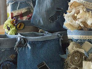Шьем быстро и легко: мешочки из джинсов. Ярмарка Мастеров - ручная работа, handmade.