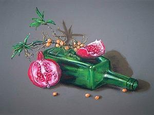 Рисуем яркий натюрморт сухой пастелью | Ярмарка Мастеров - ручная работа, handmade