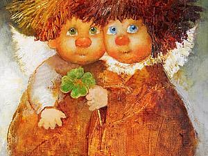 Наивные и трогательные ангелы Галины Чувиляевой   Ярмарка Мастеров - ручная работа, handmade