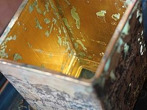 Ваза-подсвечник: Тайна золотых песков | Ярмарка Мастеров - ручная работа, handmade