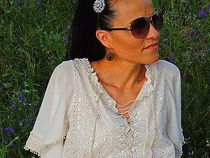 Летнее платье из батиста в стиле БОХО | Ярмарка Мастеров - ручная работа, handmade