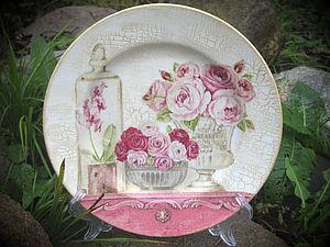 МК: декупаж фарфоровой тарелки