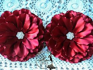 Создаем фантазийный объёмный цветок в технике канзаши. Ярмарка Мастеров - ручная работа, handmade.