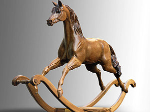 Деревянная лошадка – магический символ 2014. Ярмарка Мастеров - ручная работа, handmade.