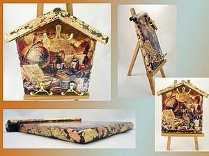 Декорируем ключницу-домик. Ярмарка Мастеров - ручная работа, handmade.