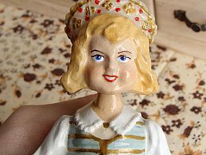 Реставрируем винтажную куколку-болванчик. Ярмарка Мастеров - ручная работа, handmade.