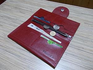Шьем портмоне из кожи. Ярмарка Мастеров - ручная работа, handmade.