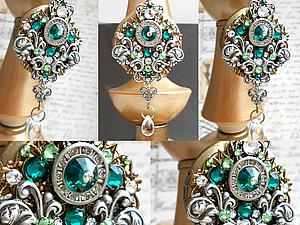 Роскошь Викторианского стиля.Стимпанк кулон-медальон. | Ярмарка Мастеров - ручная работа, handmade