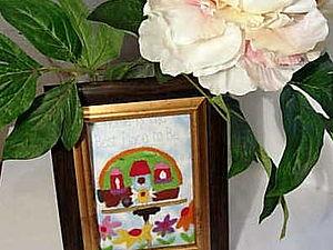 МК.  Картина валяная по-сухому. | Ярмарка Мастеров - ручная работа, handmade