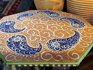 Расписываем стол восточными узорами. Ярмарка Мастеров - ручная работа, handmade.
