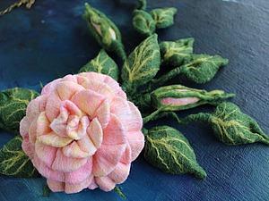 Создаем шикарное колье с розой из войлока. Ярмарка Мастеров - ручная работа, handmade.