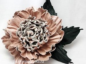 Мастер-класс.Цветы из кожи.Роза Сьюзен | Ярмарка Мастеров - ручная работа, handmade
