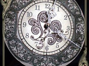 Часы в технике прямого и обратного декупажа. Ярмарка Мастеров - ручная работа, handmade.
