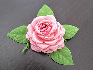 Делам розовый цветок из лент на плоской основе | Ярмарка Мастеров - ручная работа, handmade