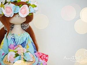 Сидячая куколка Садовая Берегиня, handmade