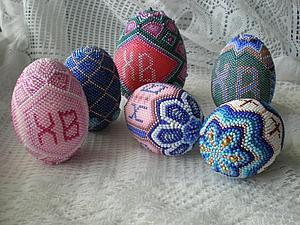 Яйца бисером без схемы