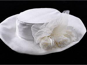 Свадебная шляпка для мишки Тедди | Ярмарка Мастеров - ручная работа, handmade