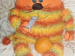 Апельсиновый кот-подушка! | Ярмарка Мастеров - ручная работа, handmade