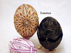 Пасхальный МК по вышивке яиц в стиле