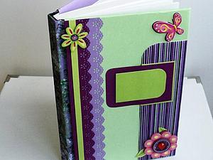 Скрапбукинг. Оформление обложки блокнота. Ярмарка Мастеров - ручная работа, handmade.