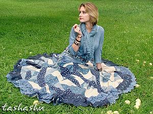 Апгрейд старых джинсов, или, возможно, это бохо (часть вторая: сборка юбки и ремень).. Ярмарка Мастеров - ручная работа, handmade.