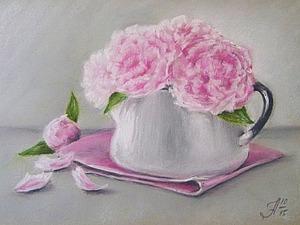 Рисуем сухой пастелью «Этюд с пионами». Ярмарка Мастеров - ручная работа, handmade.